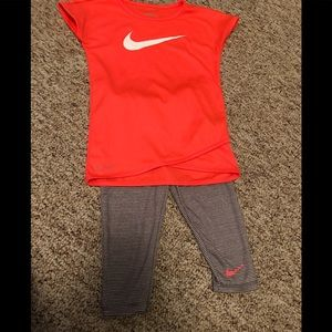 Nike dri fit top and bottoms